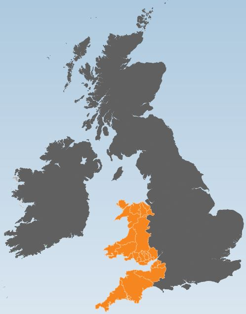 Wales and SW England