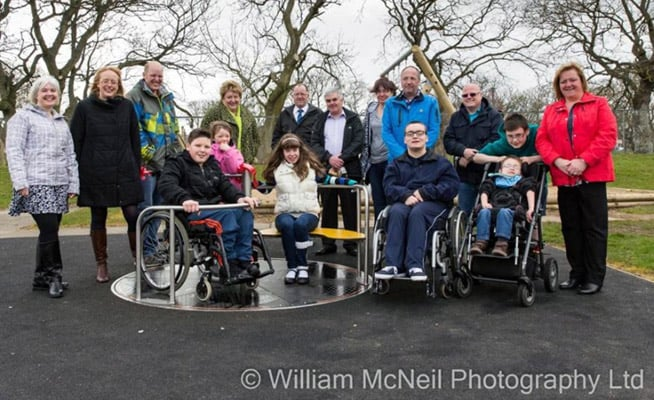 Inclusive Orbit roundabout at The Anna Ritchie School, Peterhead