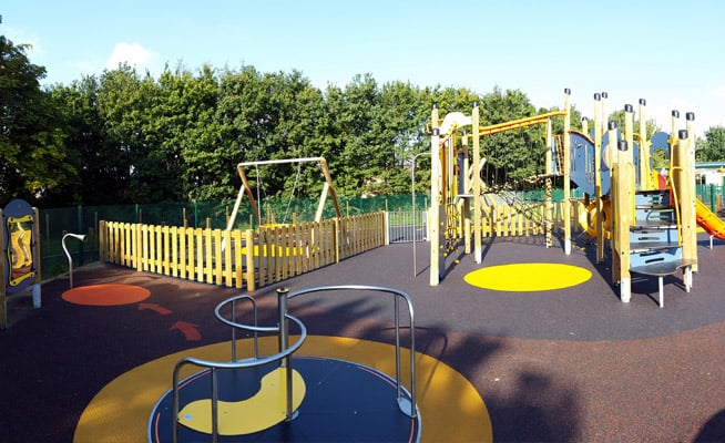 The play area at The Bridge School, Ipswich, Suffolk
