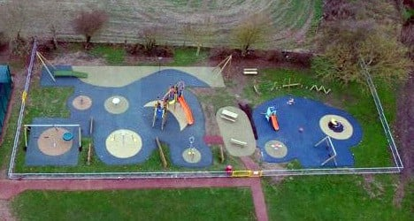 Drone image of new play area