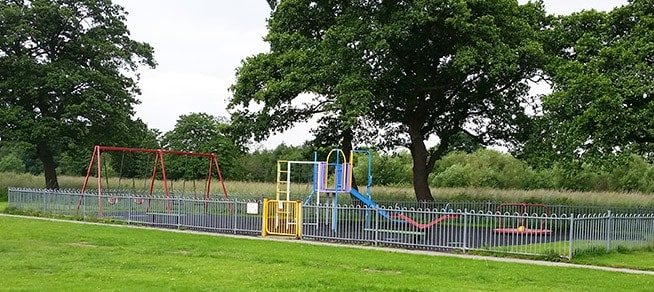 The previous play area at Catterall Queen Elizabeth II Playing Field
