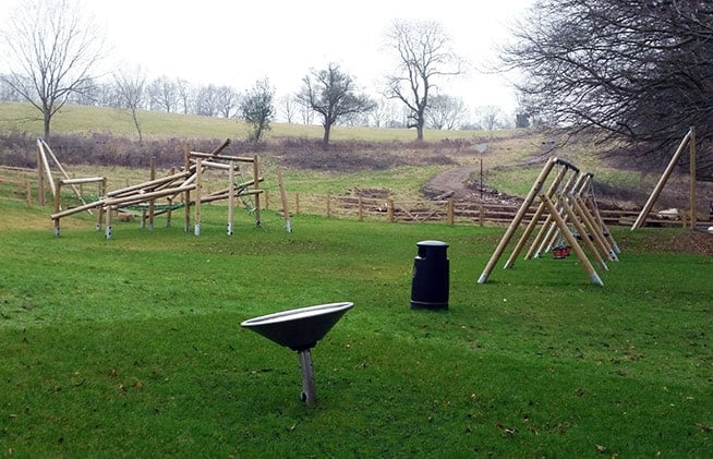 Gravity Bowl (foreground), Jungle Climber, Swings and Aerial Runway