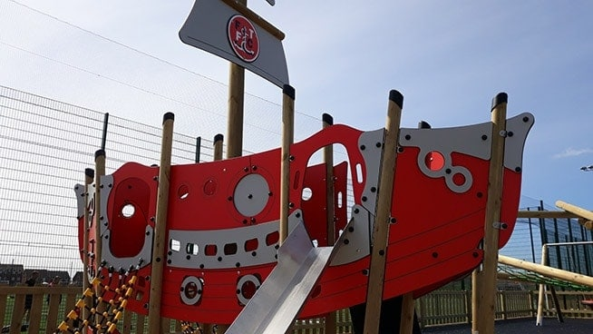 The Play Galleon Plus complete with Fleetwood Town's emblem